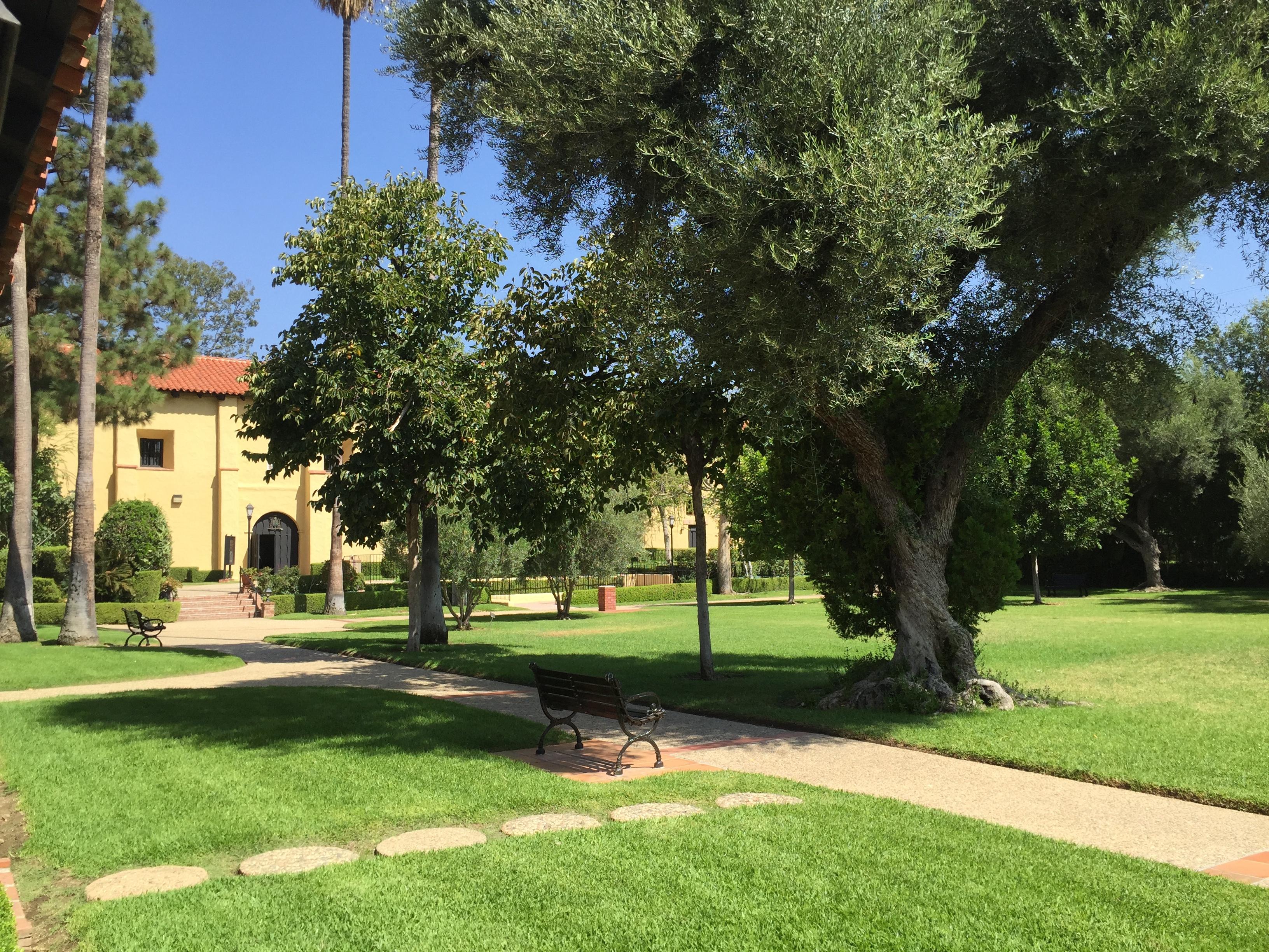 San Fernando Mission courtyard - ventura santa Barbara san Fernando Missions