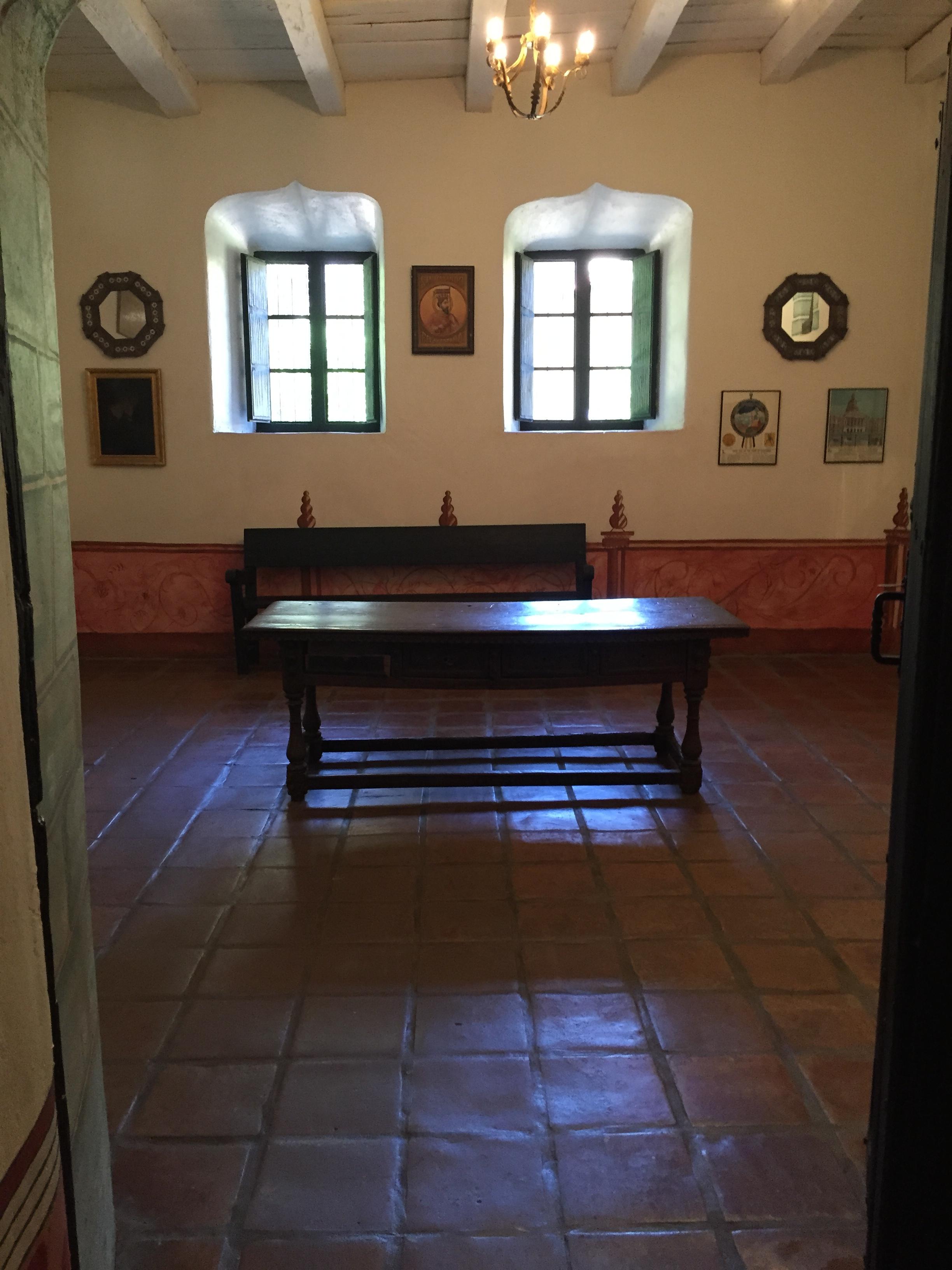 San Fernando Mission interior - Ventura santa Barbara san Fernando Missions