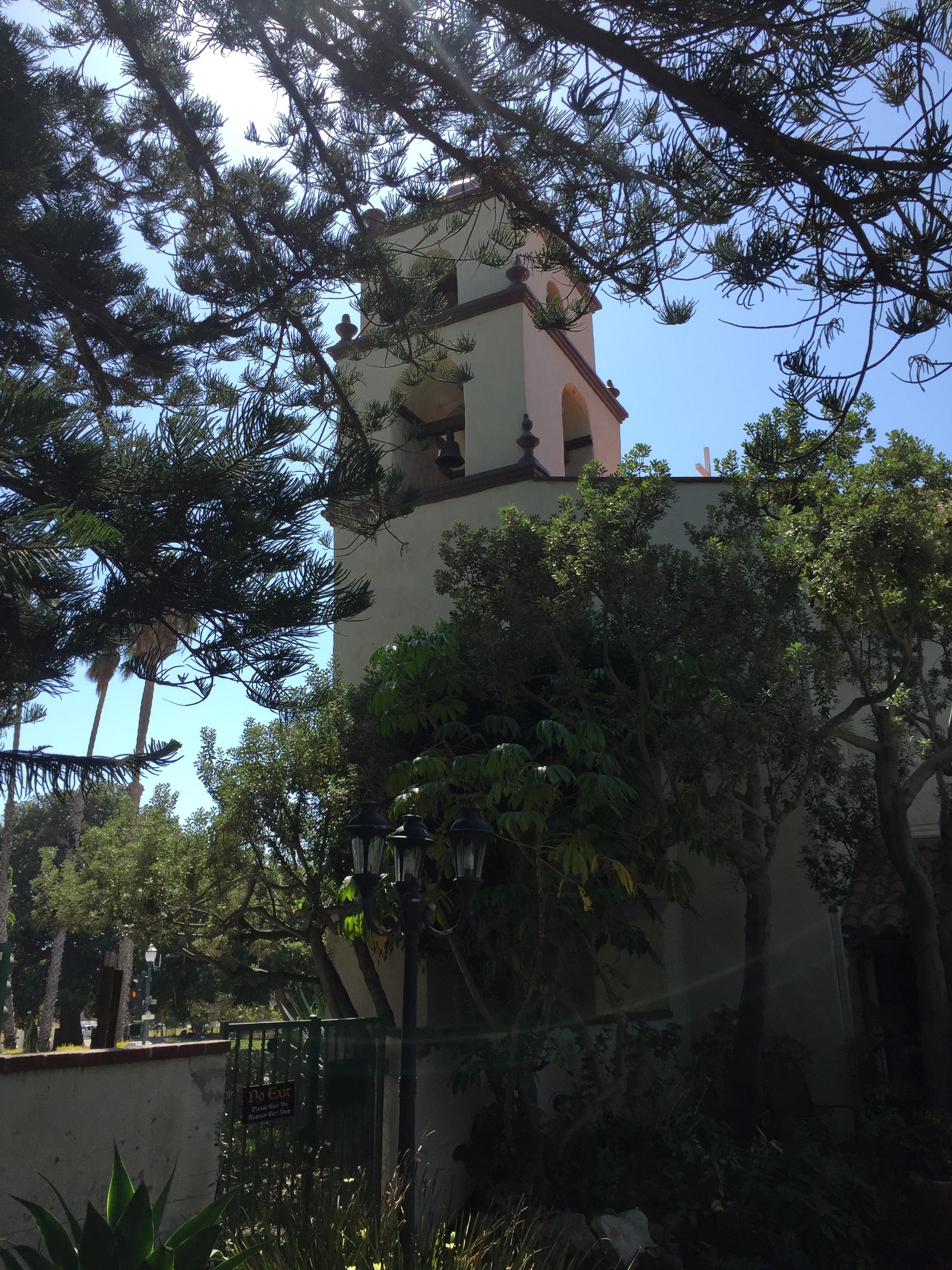 ventura Mission tower - ventura santa Barbara san Fernando Missions