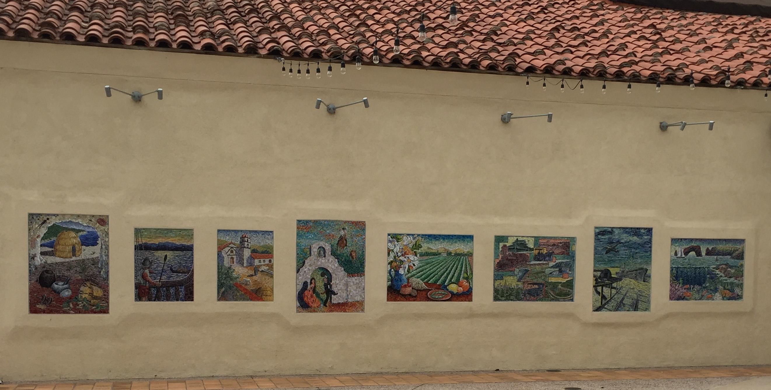 Vebtura museum mosaics - ventura santa Barbara san Fernando Missions
